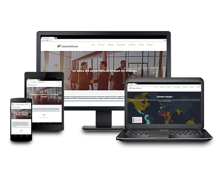 Desarrollo aplicación web asesoria24.com