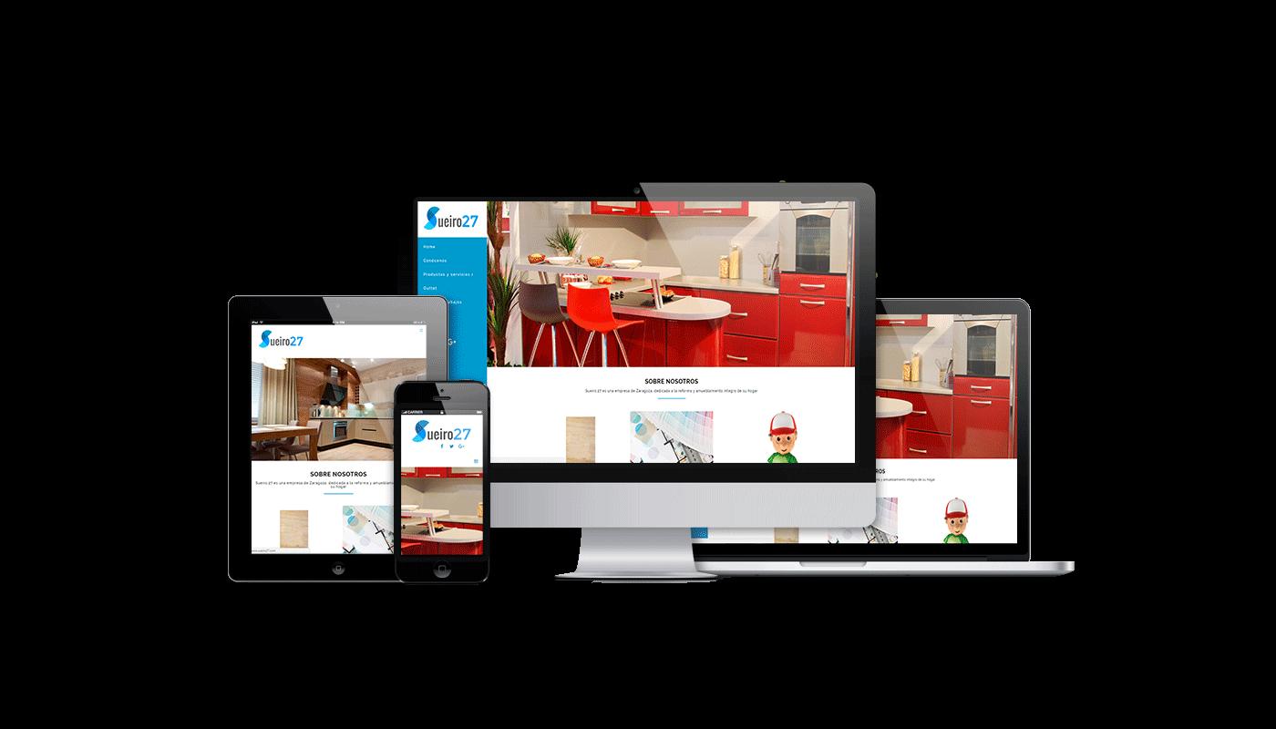 Desarrollo web integral para web de empresa de reformas y amueblamiento en Zaragoza
