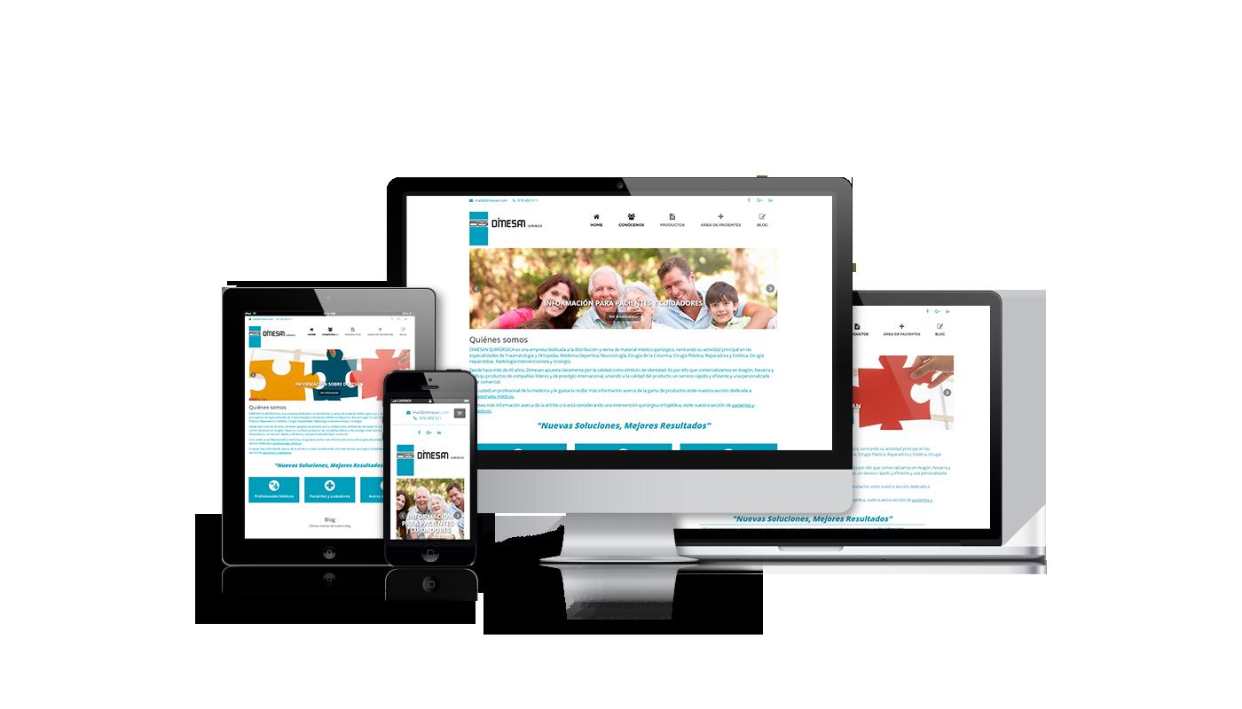 Desarrollo web integral para web de distribución y venta de material médico-quirúrgico
