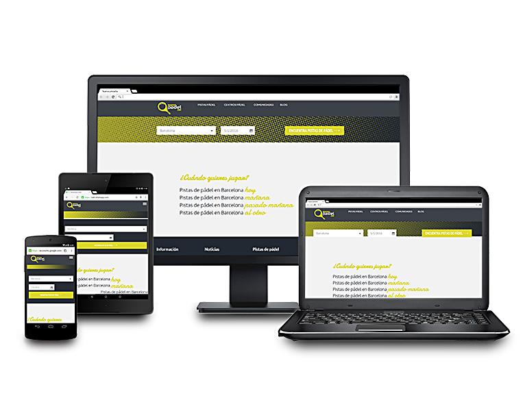 Desarrollo aplicación Web buscador de pistas de pádel reservarpadel.com