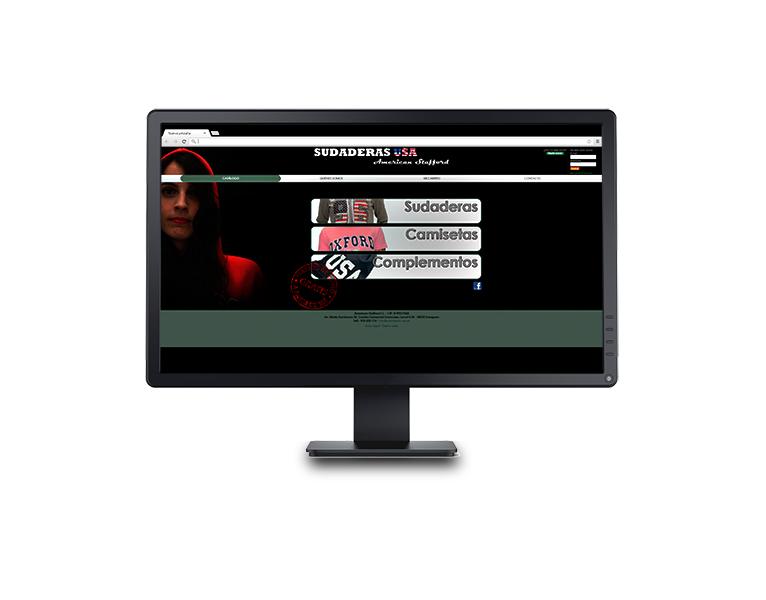 Desarrollo web tienda online Sudaderas USA