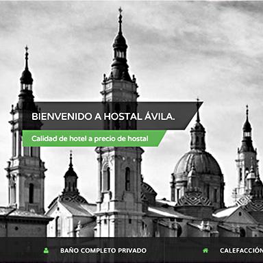 Desarrollo página web Hostal Ávila