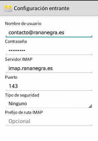 Configurar servidor entrante Android