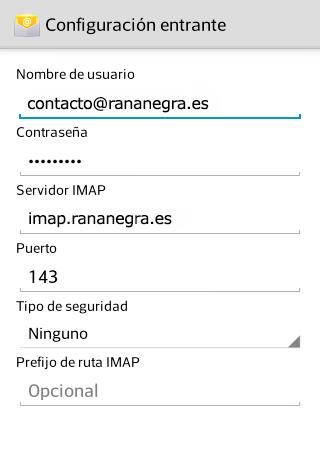 Puertos de correo en Android