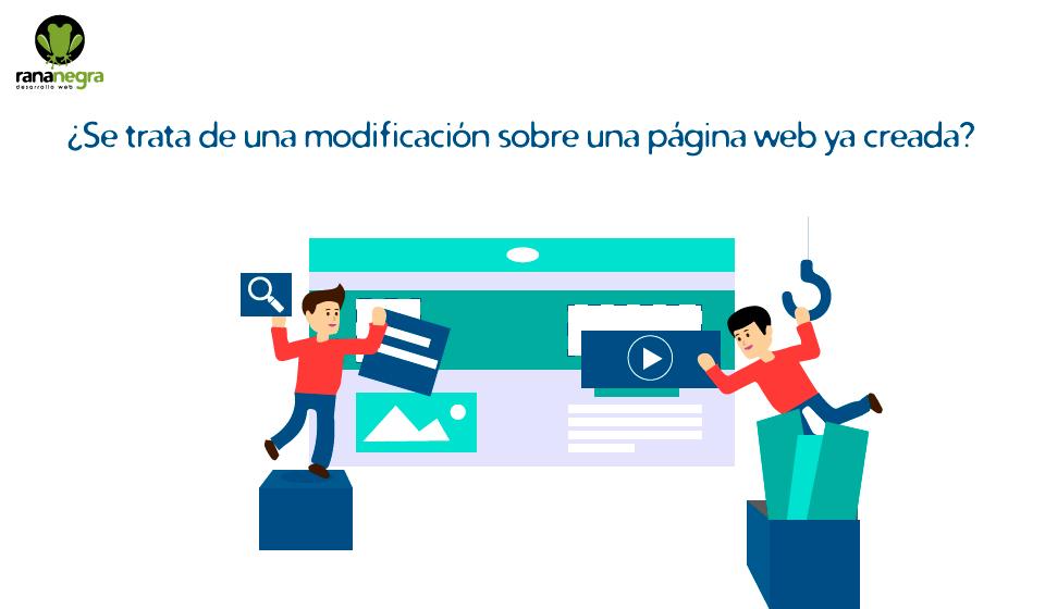 Presupuestar modificación página web