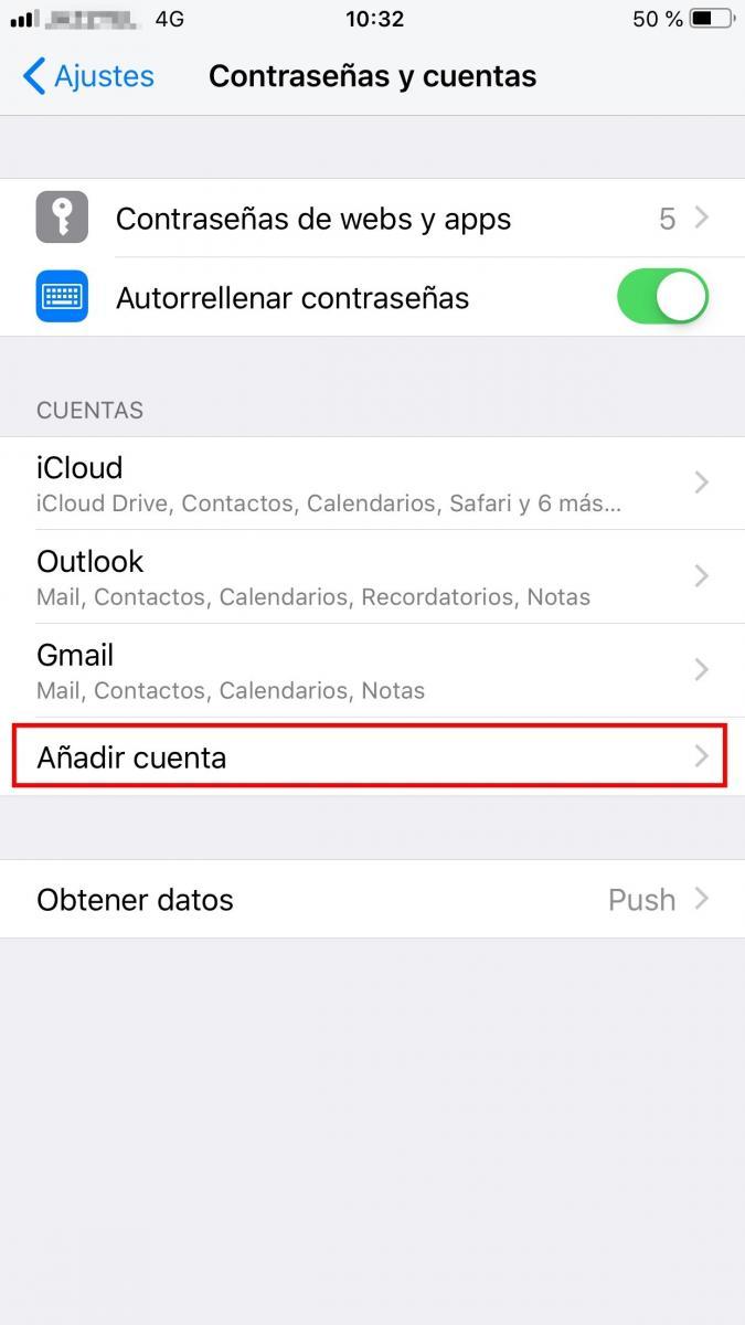 Cómo añadir correo electrónico en Iphone