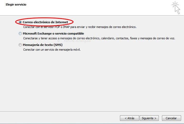 Configurar correo electrónico Outlook