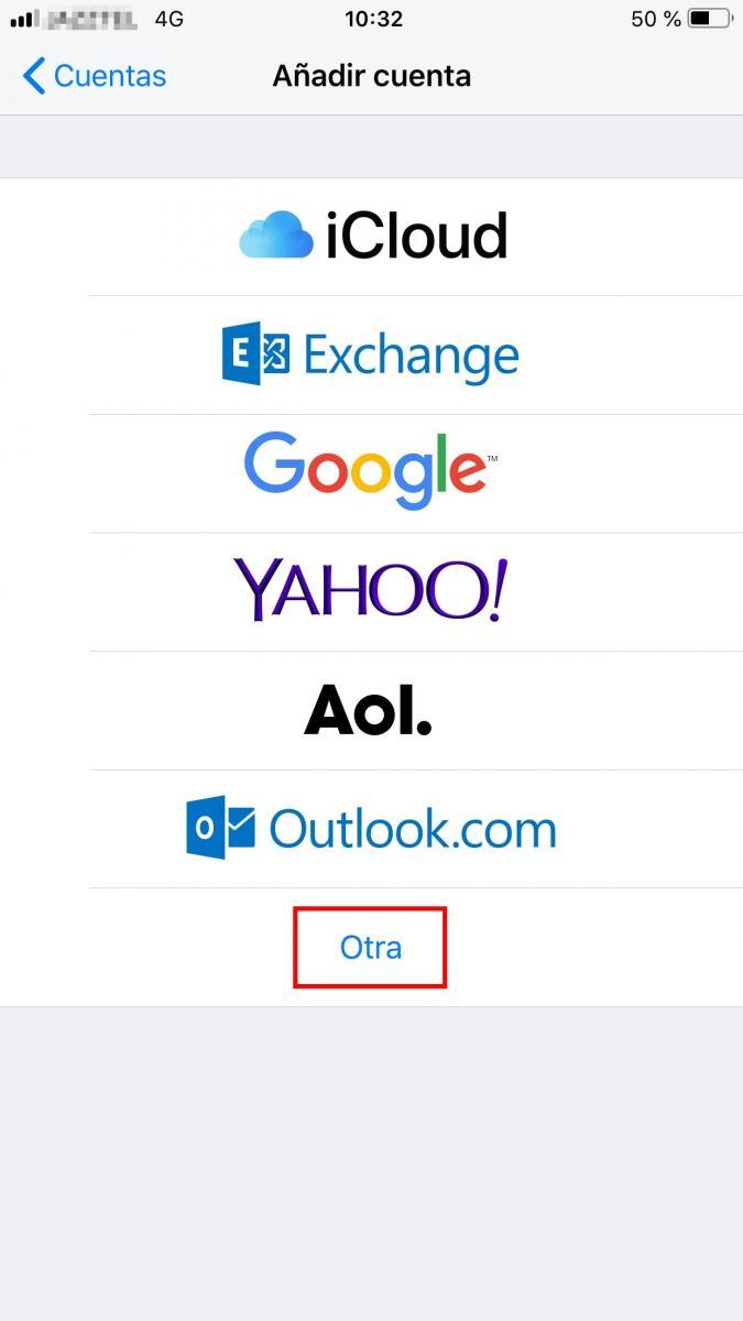 Configura tu correo con  Rana Negra en Iphone