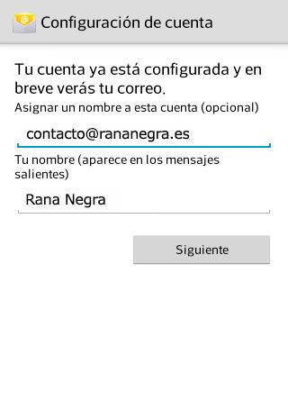 Cuenta de correo en Android