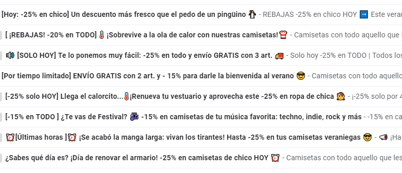 emoticonos email marketing gmail