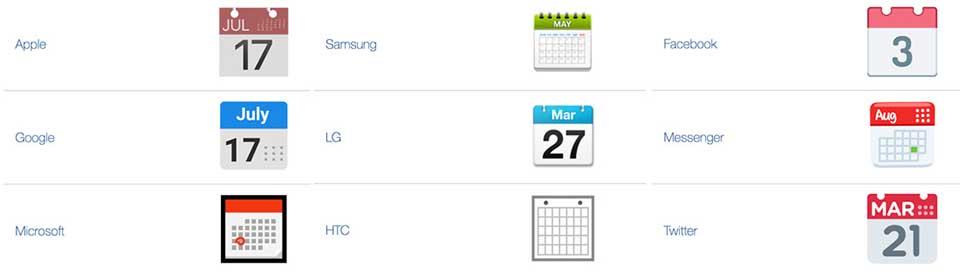 emoticonos calendario