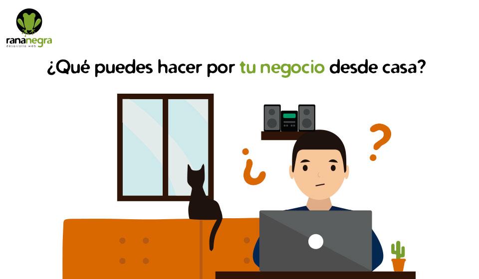que hacer por tu web desde casa