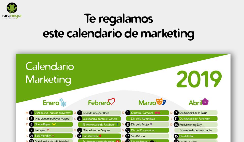 Te regalamos este calendario de marketing para que no pierdas ninguna oportunidad de llegar a tus clientes