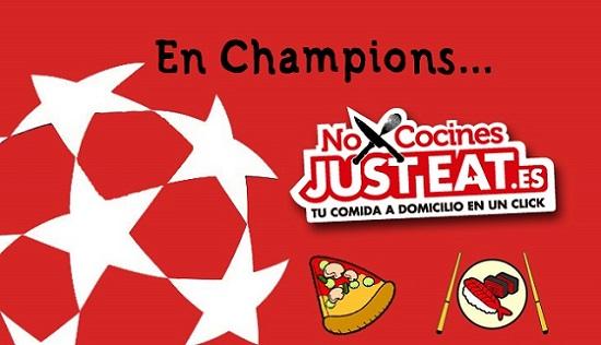 Champions League y aplicaciones online de comida a domicilio