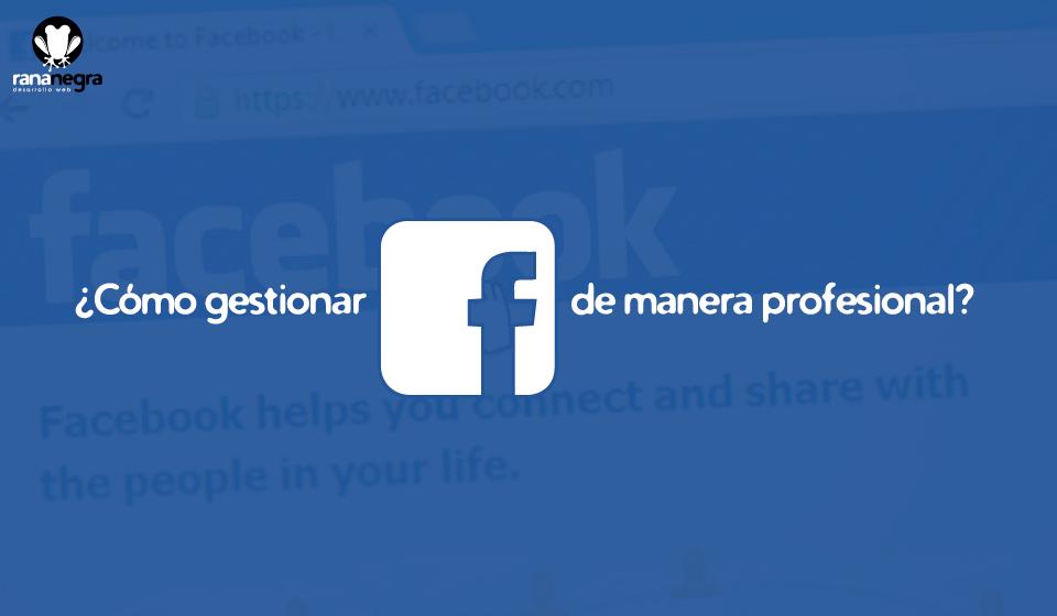 Guía de gestión páginas de Facebook profesionales