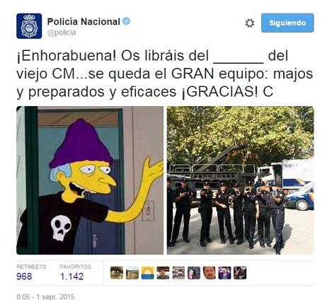 Carlos, el Community Manager de @policia, ficha por Iberdrola.