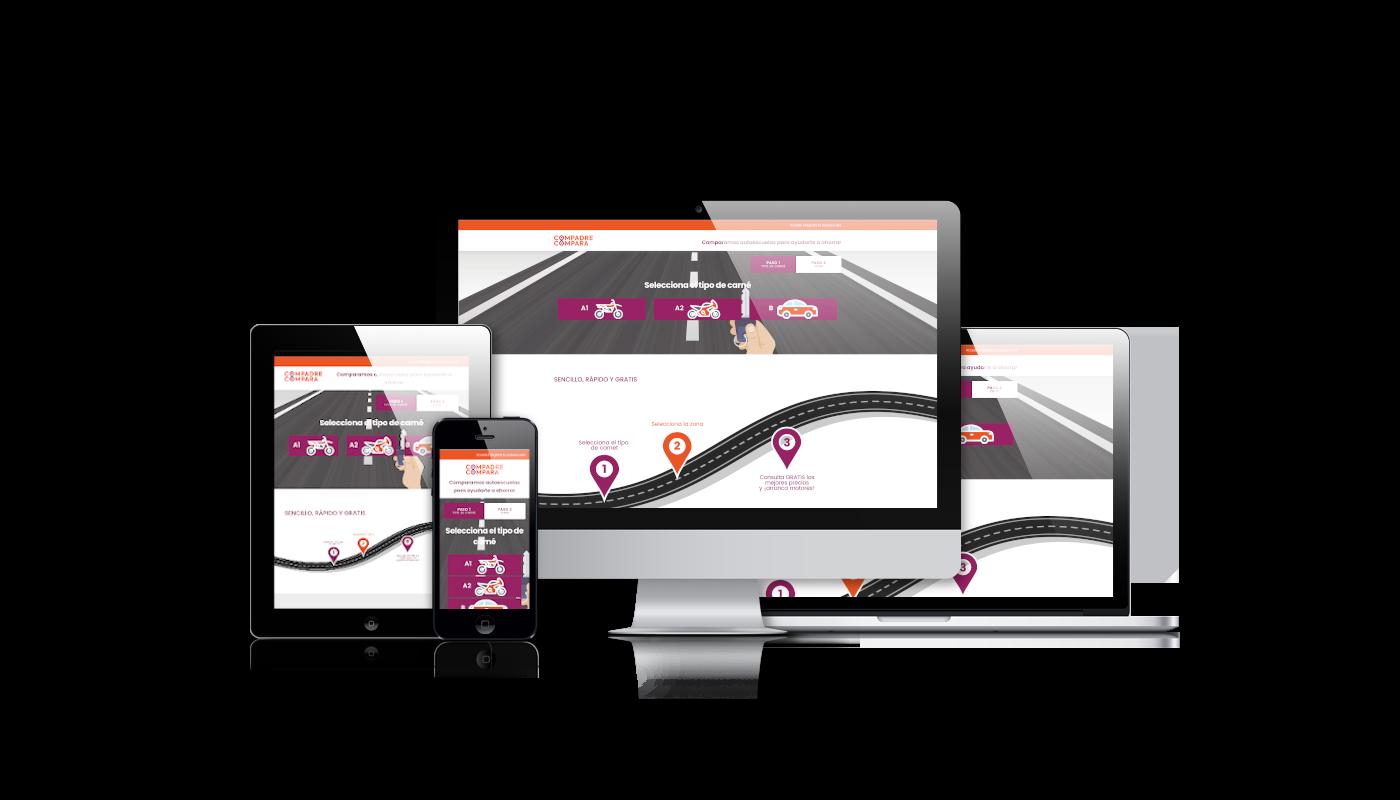 Desarrollo web integral comparador autoescuelas