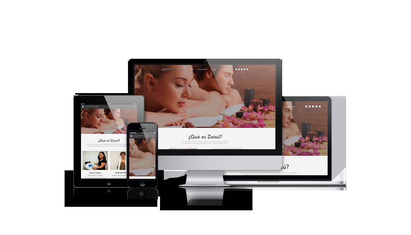 Modificaciones web para centro de estética y masajes