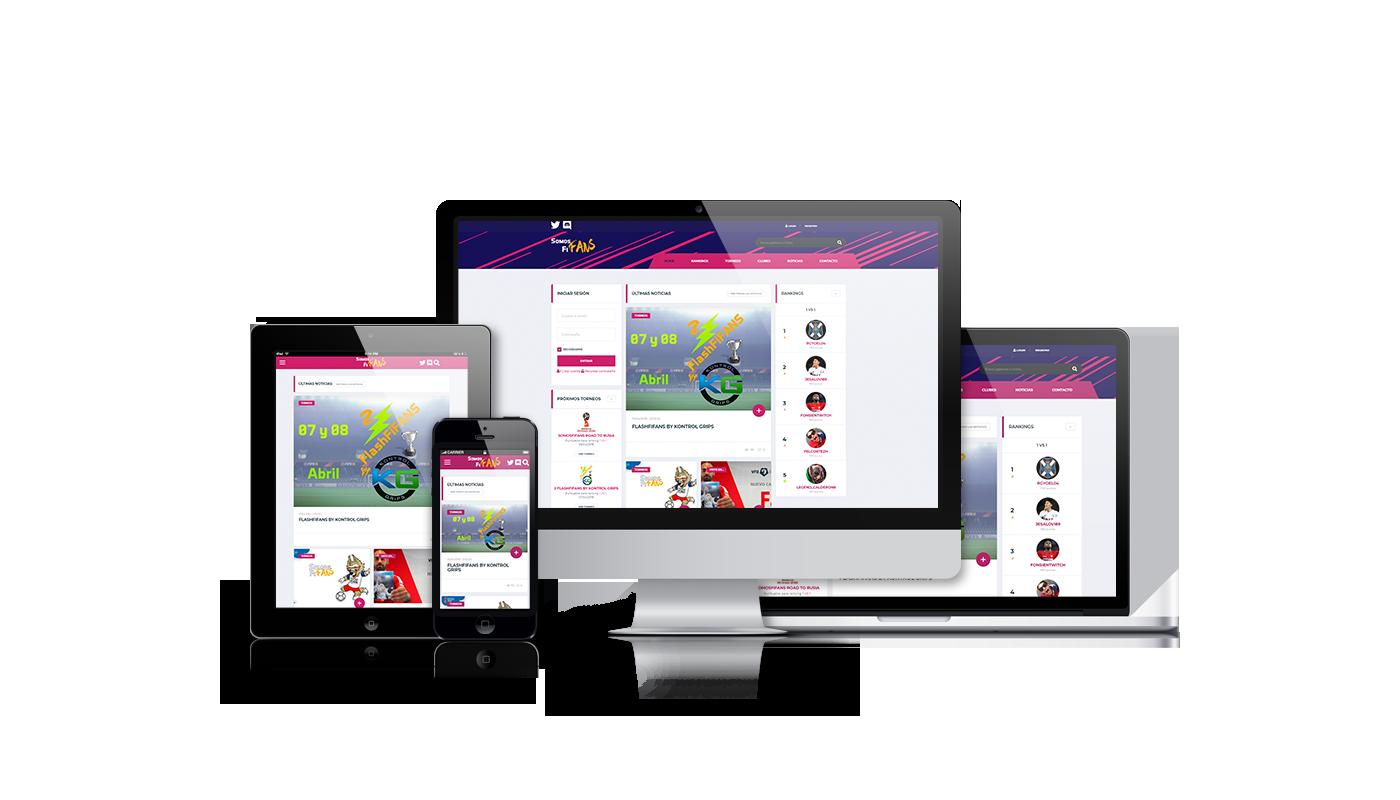 Desarrollo web integral página comunidad de usuarios fifa para playstation