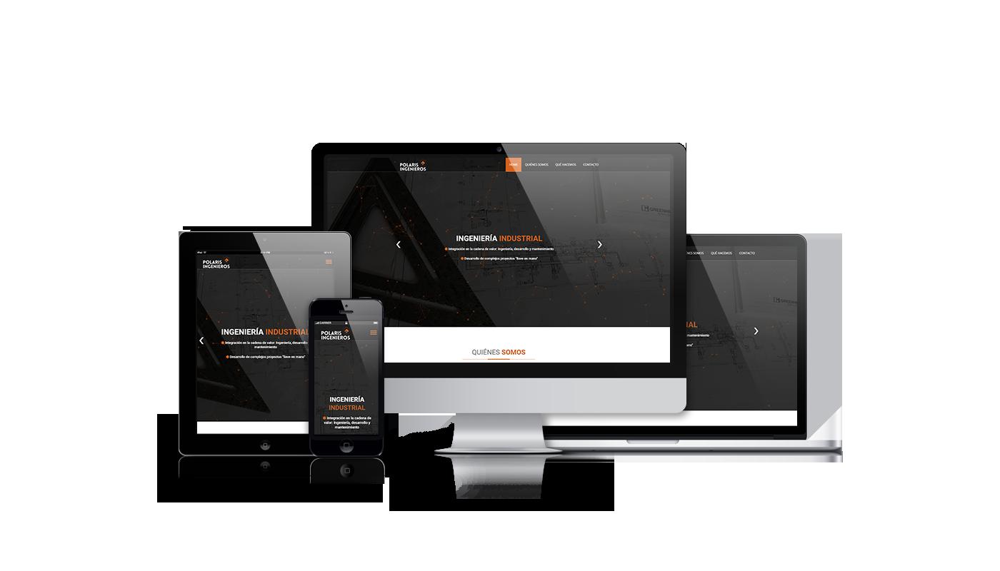 Desarrollo onepage para ingeniería  y creación de imagen corporativa