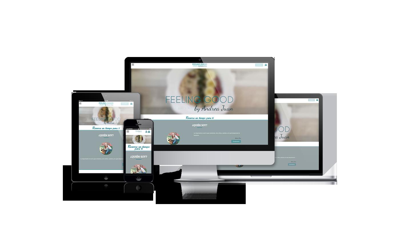 Desarrollo web integral con venta online de productos y planes alimentarios