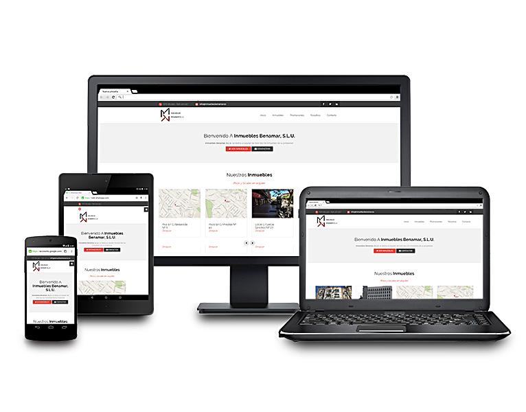 Desarrollo página web Inmuebles Benamar