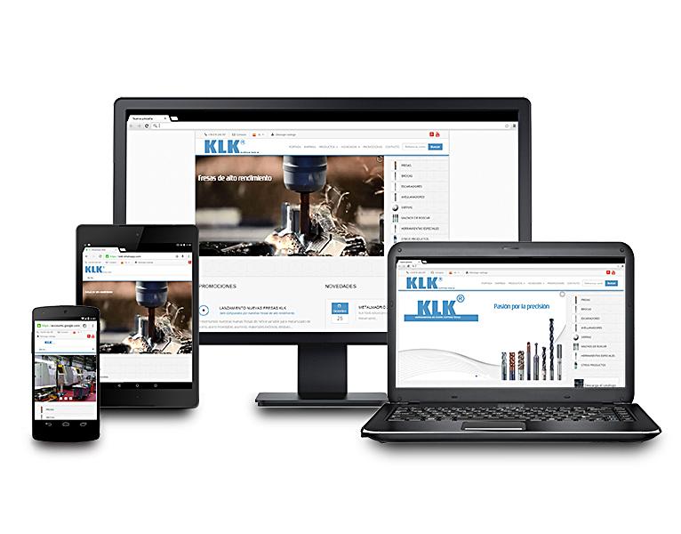 Desarrollo web catálogo online KLK Tools