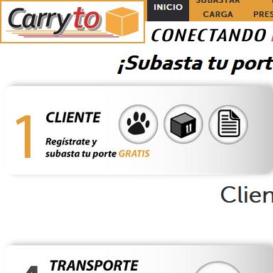 Desarrollo aplicación web Carryto.com