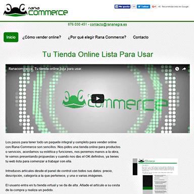 Web producto rana commerce