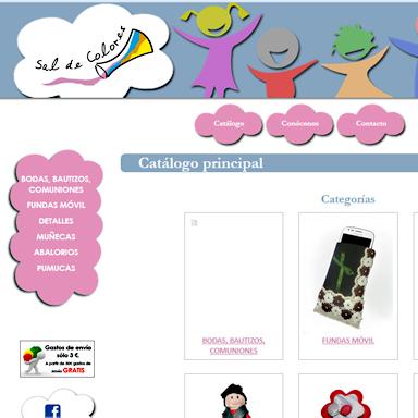 Desarrollo Web tienda online Sal de Colores