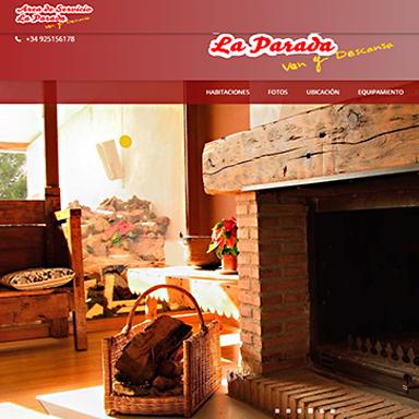 Desarrollo página web Área de Servicio La Parada